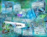 Internet astratto Fotografie Stock