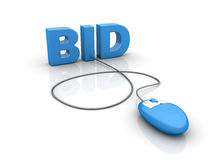 Internet auction bid Royalty Free Stock Photo