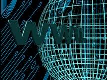 Internet auf der Welt Lizenzfreies Stockfoto