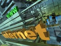 Internet-Auslegung lizenzfreie abbildung