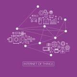 Internet av illustrationen för saker (IoT) Royaltyfri Foto