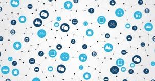 Internet av saker, beräknande begreppsanimering för moln stock video