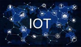 Internet av saker IoT royaltyfri illustrationer