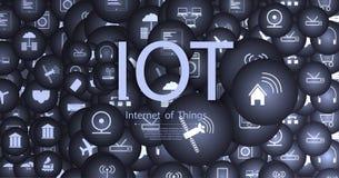 Internet av saker IoT och nätverkande vektor illustrationer