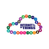 Internet av saker och molnteknologibegreppet Arkivbild