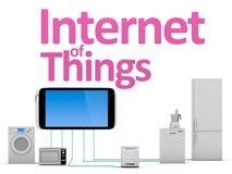 Internet av sakerbegreppet vektor illustrationer