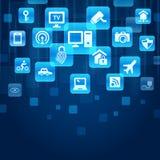 Internet av sakerbegreppet stock illustrationer