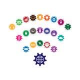Internet av sakerbegreppet Arkivfoton