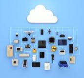 Internet av sakerbegreppet för konsumtionsprodukter vektor illustrationer