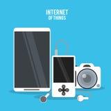 Internet av sakerdesignen stock illustrationer
