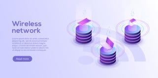 Internet av sakerorienteringen IOT-online-synkronisering och connec royaltyfri illustrationer