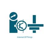 Internet av sakervektorsymbolet vektor illustrationer