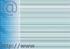 Internet background. Blue abstract internet background theme stock illustration