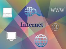 Internet background Stock Photo