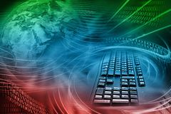 Internet Background. Abstract Colorful Illustration of Internet in the World Stock Images