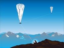 Internet through balloon Stock Image