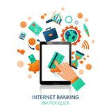 Internet Banking Application Royalty Free Stock Photography