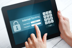 Internet banking concept Stock Images