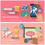 Internet banking and e-commerce concept Stock Photo