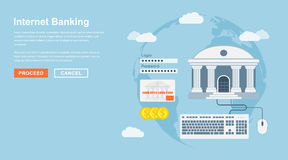 Internet banking Royalty Free Stock Photos