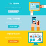 Internet banking and mobile payments Stock Images