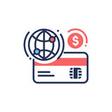 Internet banking - modern vector line design icon. Royalty Free Stock Photography