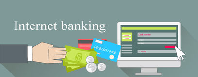 Internet Banking Money Credit Card Royalty Free Stock Images