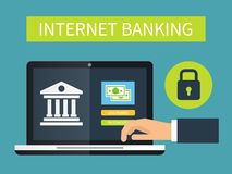 Internet banking, online transaction. Stock Photos