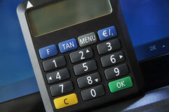 Internet banking security Stock Images