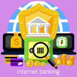 Internet banking and security deposit concept Stock Image