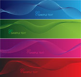 Internet banners. An illustration of several colorful  banners Stock Image