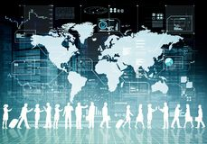 Internet-bedrijfs virtuele mensen royalty-vrije illustratie