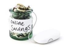 Internet-Besparingen royalty-vrije stock foto's