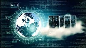 Internet Big data and cloud server stock image