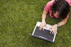 Internet bij het park Royalty-vrije Stock Foto's
