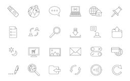 Internet black icons set Stock Image