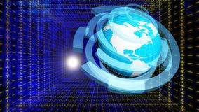 Internet bleu de concept de couleur de fond Image stock