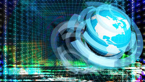 Internet bleu de concept de couleur de fond Photos libres de droits