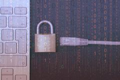 Internet-Blockieren Nahaufnahme stockbild