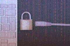Internet blocking. Close-up stock image