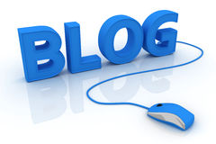 Internet Blog. Online services concept images. 3D render Stock Photography