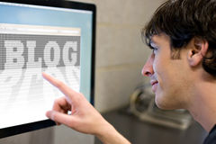 Internet-Blog Stockfotos