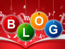 Internet Blog Means World Wide Web And Websites Royalty Free Stock Photography