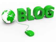 Internet Blog Shows World Wide Web And Worldwide Stock Photography