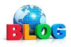 Internet-blogconcept Stock Foto