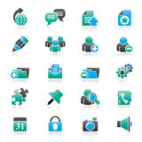 Internet blogging icons Stock Photo