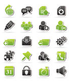 Internet blogging icons Royalty Free Stock Photo