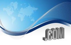 Internet blue background illustration Stock Photo