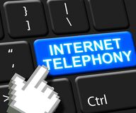 Internet-Breedband 3d Illustratie van de Telefonie de Zeer belangrijke Stem vector illustratie
