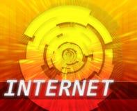 Internet broadband data technology. Internet broadband data information communications network technology concept illustration Royalty Free Stock Photography